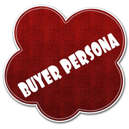 Red pattern cloud with BUYER PERSONA text written on it illustration.
