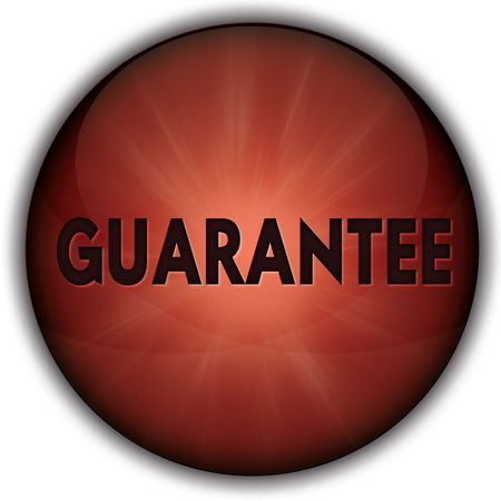 GUARANTEE red button badge. Illustration image concept Stock Photo
