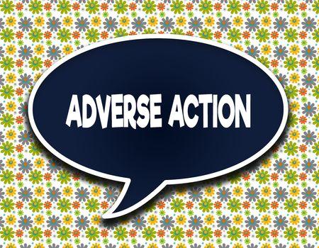 有害なアクションのテキストメッセージと濃い青色の単語のバルーン。花の壁紙の背景。図