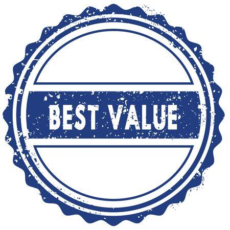 best value stamp sticker seal blue round grunge vintage ribbon