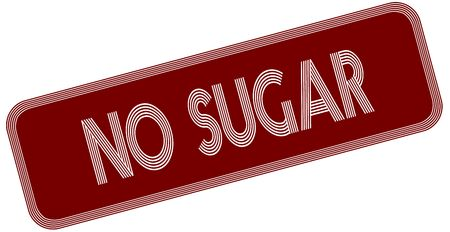 NO SUGAR on red label. Illustration graphic concept image Stock Photo