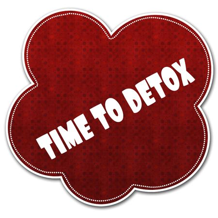 Red pattern cloud with TIME TO DETOX text written on it illustration.