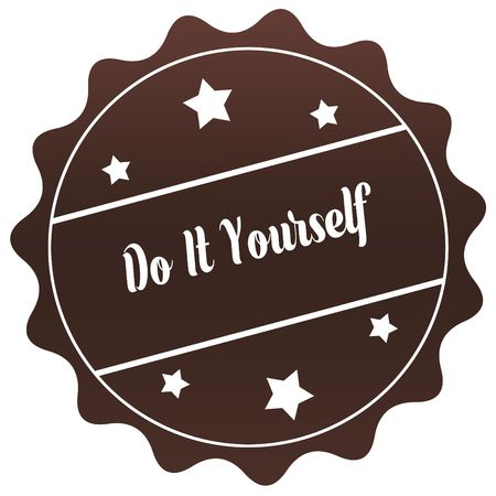 Golden badge with do it yourself text illustration graphic design brown do it yourself stamp on white background illustration illustration solutioingenieria Image collections