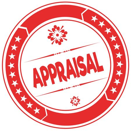 APPRAISAL orange stamp. Illustration graphic concept image Stock Photo