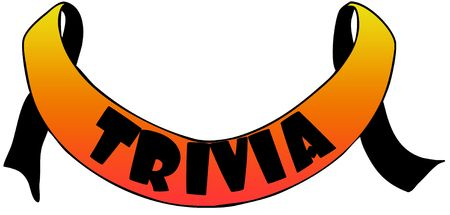 Orange ribbon withTRIVIA text. Illustration concept image