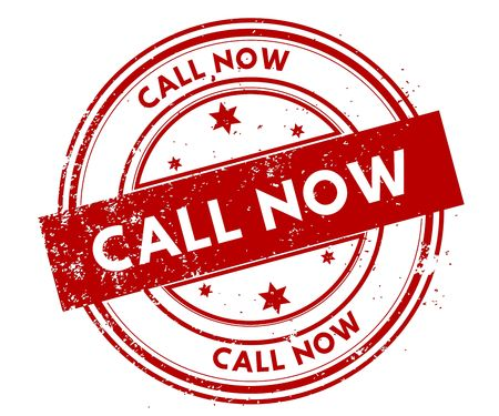 CALL NOW distressed red stamp. Illustration graphic concept Stock Photo