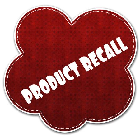 Red pattern cloud with PRODUCT RECALL text written on it illustration.