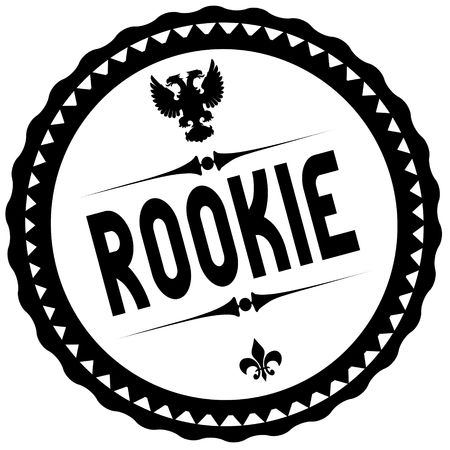 ROOKIE black stamp. Illustration graphic concept image
