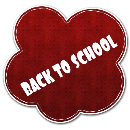 Red pattern cloud with BACK TO SCHOOL text written on it illustration.