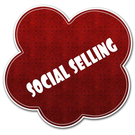 Red pattern cloud with SOCIAL SELLING text written on it illustration. Stock Photo