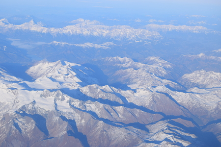 alps covered by snow