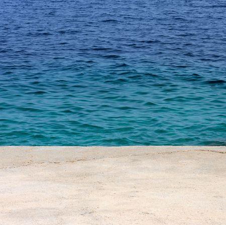 Seaside and concrete on the mediterranean sea