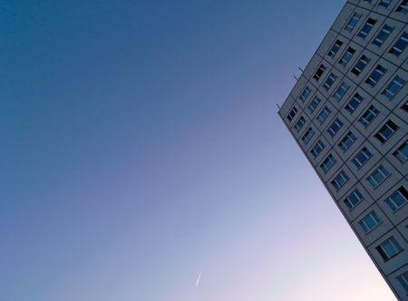 Urban Living Block In Blue Skies in Europe