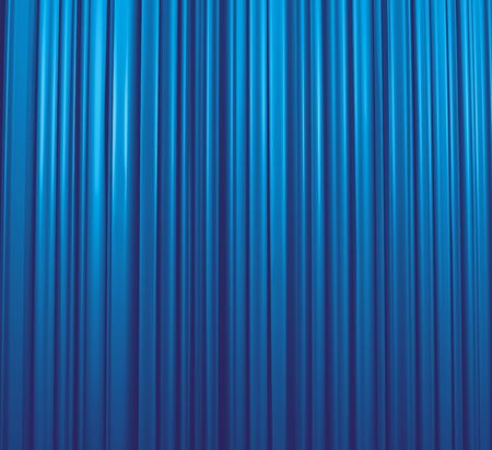 famous actor: Illuminated blue curtain in theater or cinema, illustration Stock Photo