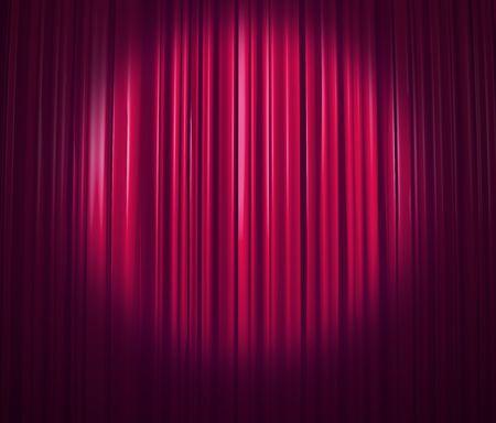 operetta: Purple Curtain With Spotlight