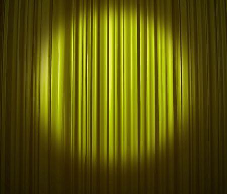 Lime Curtain With Spotlight