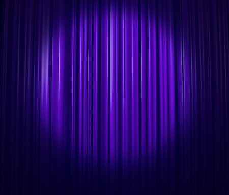 operetta: Lavender curtain with spotlight Stock Photo