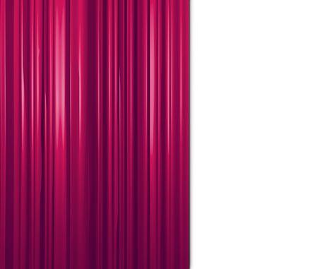 purple curtain on white background Stock Photo