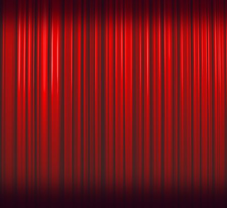 famous actor: Deep Red Curtain