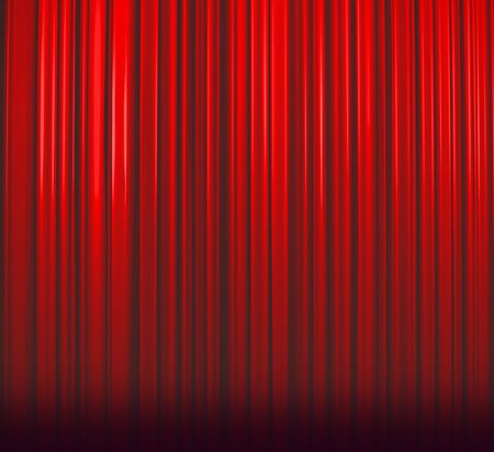 Deep Red Curtain