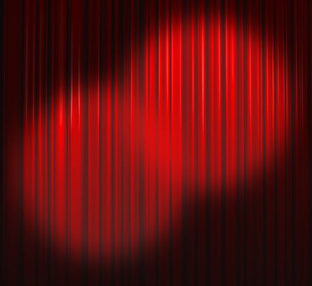 Deep Red Curtain With Two Spots