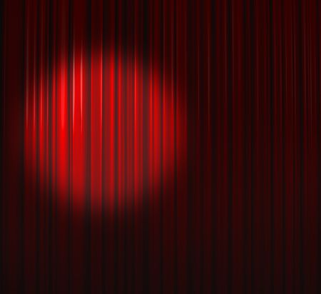 Deep Red Curtain With Small Spot Left