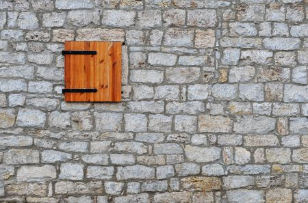 Small Window In Ancient Brickwall photo