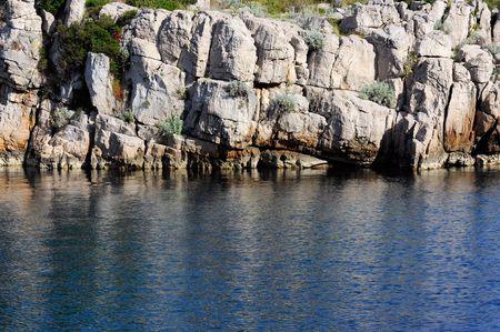 rocky coast on the mediterranean sea