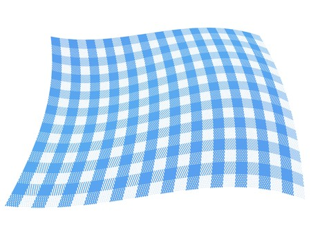 A flag with traditional plaid, checkered pattern in blue and white. photo