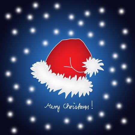 Santas design - his hat painted in a cartoon style with snowflakes.