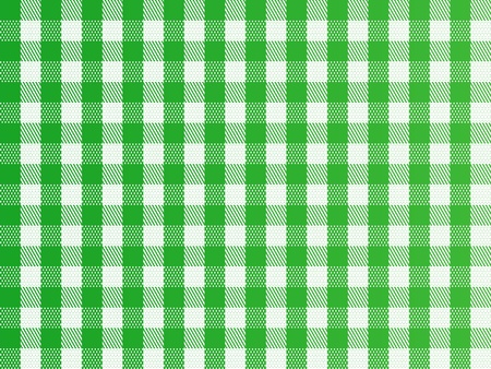 A traditional plaid seamless, repeating checkered pattern in green and white.
