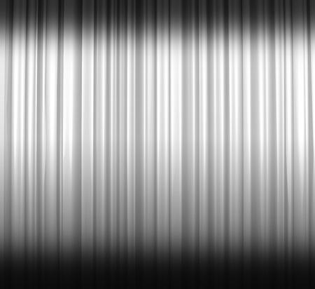Illuminated white curtain with shadows Stock Photo