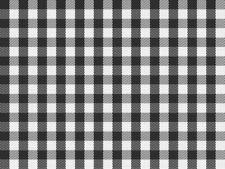 cuadros blanco y negro: A cuadros tradicionales sin fisuras, repetición de patrones a cuadros en blanco y negro.