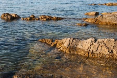 Detail of the rocky mediterranean coast in croatia