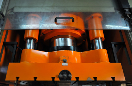 embossing: Heavy press machine for embossing, moulding metal with high pressure