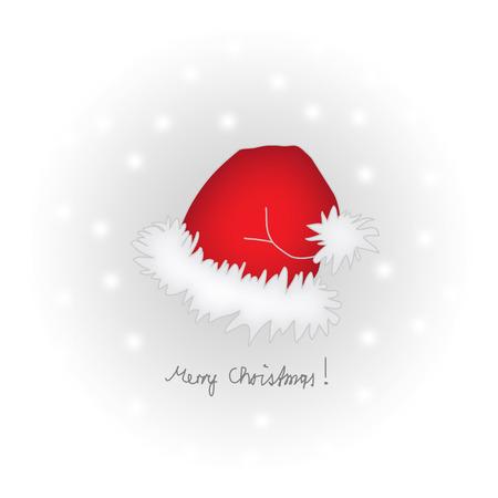 Santas Cap with Snowflakes