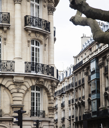 noone: houses on french streets of Paris. citylife concept noone real Stock Photo