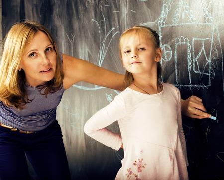 Mature blonde teacher