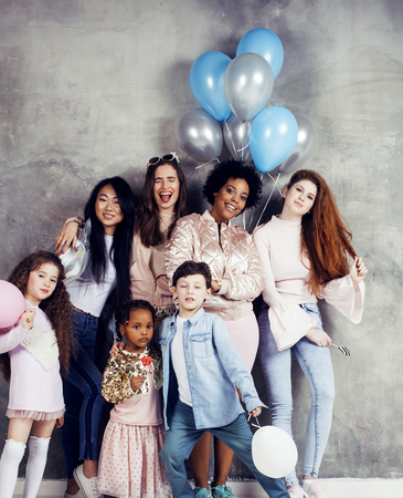 Lifestyle and people concept: young pretty diversity nations women