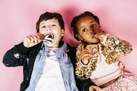 lifestyle people concept: diverse nation children playing together