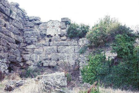 ancient ruins at summer, tourism vacation concept close up Stok Fotoğraf