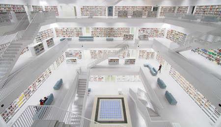 public library: Stadtbibliothek Stuttgart - Library in Stuttgart Germany