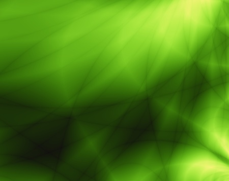 greenness: Green sunbeam abstract background
