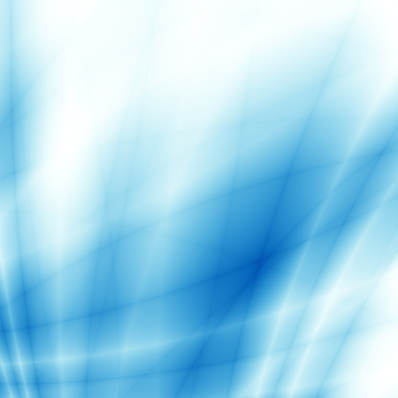 blue wave: Light blue line high tech abstract background Stock Photo