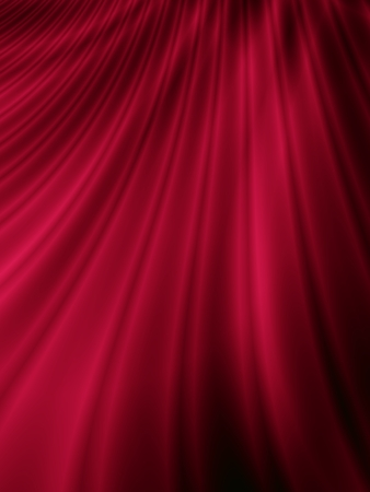 Red curtain abstract satin background photo