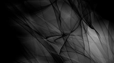 black silk: Fantasy black and white wide image card wallpaper design