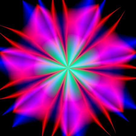 star power: Power star abstract mandala colorful illustration headers