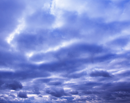 Abstract clouds in blue color Stock Photo