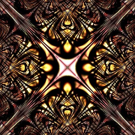 Depth colorful abstract art mandala ornament background Stock Photo