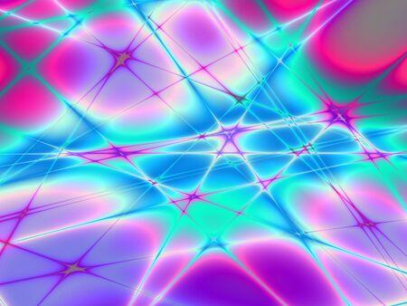 Bright power burst techno crazy abstract pattern